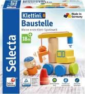 Selecta 62075 Klettini, Baustelle, Klett-Stapelspielzeug, 8 Teile, bunt