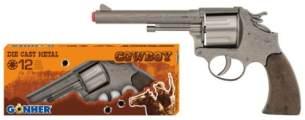Gonher 76/0 - Revolver Margarita 12-Schuss 23 cm, Zink Antik