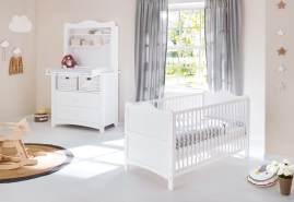 Pinolino 'Florentina' 2-tlg. Babyzimmer-Set weiß, breit, inkl. Regalaufsatz