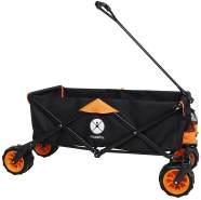 Miweba faltbarer Bollerwagen Transportwagen Handwagen Karre Gartenwagen Strand (Orange)