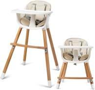 COSTWAY 2-in-1 Kinderhochstuhl aus Holz