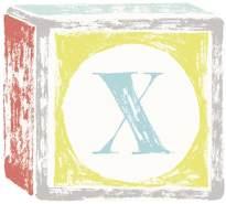 Lilipinso Sticker Buchstabe auf Spielwürfel X