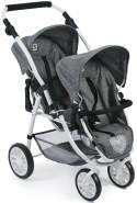 Bayer Chic 2000 689 76 Puppenwagen Tandem-Buggy Vario, Jeans Grey