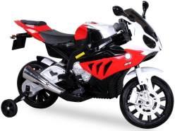 Toys Store - Kindermotorrad BMW S1000RR Lizenz Kinderelektro Motorrad Kinderfahrzeug Dreirad Rot