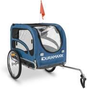 Duramaxx King Rex Fahrradanhänger Hundeanhänger Blau 250l, 40kg