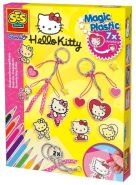 SES Creative 14691 - Zauberschrumpffolie Magic Plastic Hello Kitty Anhänger