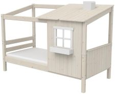 Flexa '1/2 Classic-Haus' Hausbett weiß lasiert, 90x190 cm