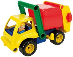 SIMM 04156 - Aktiv Müllauto mit Fahrerfigur, 30cm