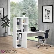 Vicco 'Mara' Schreibtisch, Weiß, mit Regal
