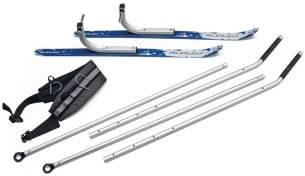 Burley Unisex– Erwachsene Ski Kit-3091981101 Kit, Silber, One Size