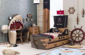 Cilek 'Black Pirate' 4-tlg. Kinderzimmer-Set