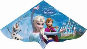 Paul Günther 1220 - Kinderdrachen mit Disneys Frozen Elsa Motiv, Einleinerdrachen aus robuster PE-Folie für Kinder ab 4 Jahre mit Wickelgriff und Schnur, ca. 115 x 63 cm groß
