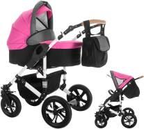 Bebebi myVARIO | 2 in 1 Kombi Kinderwagen | Hartgummireifen | Farbe: myGirl