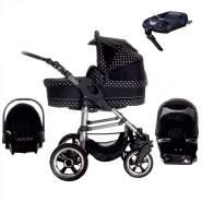 Bebebi London | ISOFIX Basis & Autositz | Hartgummireifen | 4 in 1 Kinderwagen Set | Farbe: Westminster