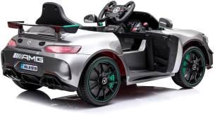 Mercedes GT4 Kinder Elektro Auto metallic Lack 2x35W 12V 7Ah 2. 4G RC Spray Paint Silver