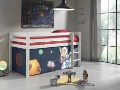 """Spielbett Pino mit Textilset """"Spaceman"""""""