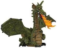 Papo 39025 - Feuerspeiender Drache mit Flügeln, Spielfigur, grün