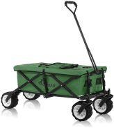 Samax 'Offroad Cool' Faltbarer Bollerwagen grün