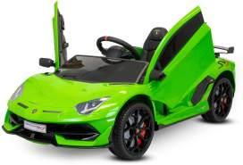 Lamborghini SVJ Kinder Elektro Auto 2x35W 12V 7Ah 2. 4G RC Grün