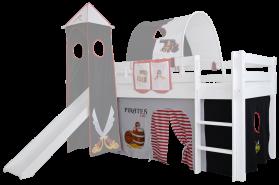 Mobi Furniture 'Höhle Pirat' 3tlg. Vorhang-Set für Hochbett