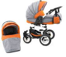 Tabbi ECO LN - 2 in 1 Kombi Kinderwagen - Farbe: Hartgummi Orange