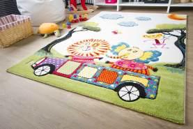 Kinder Teppich Modena Kids Tiere on Tour - Bunt Öko-Tex zertifizierter Kinderteppich, Größe 133x190 cm