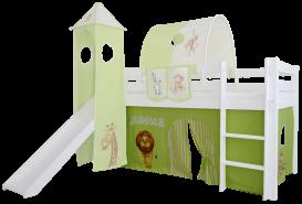 Mobi Furniture 'Höhle Dschungel' 3tlg. Vorhang-Set für Hochbett