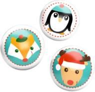 Leuchtflummi Weihnachtsgeschenke für Kinder, sortiert nicht frei wählbar, 1 Flummi, zufällige Auswahl, keine Vorauswahl möglich