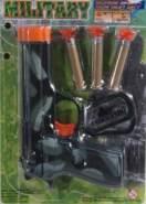 Spielzeug Pistole - Military - mit Saugpfeilen und Zubehör - Besttoy
