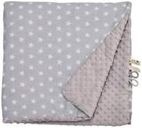LULANDO 'Grey - White Stars / Grey' Krabbeldecke 100x140 cm