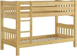 Erst-Holz Etagenbett Kiefer 90x200, natur