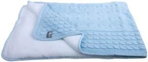 Baby´s Only Teddyfutter Kinderdecke 'Cable' hellblau, 70x95 cm