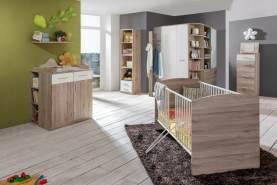 Stylefy Lio Kinderzimmer-Set VIII Sanremo Eiche Weiß