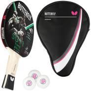 Butterfly 1x Timo Boll SG11 Tischtennisschläger + Tischtennishülle Drive Case + 3x 40+ 3*** Tischtennisbälle