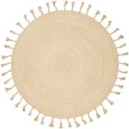 Nattiot 'Octave' Teppich, in Mango, 100% Baumwolle, 110 cm Durchmesser