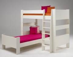 Steens Etagenbett, MDF weiß lackiert