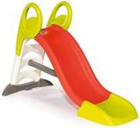 Smoby 'KS Rutsche', rot/hellgrün, kompakte Kinderrutsche mit Wasseranschluss, 1,5 Meter lang, mit Rutschauslauf, Verstrebung, Haltegriffen, für Kinder ab 2 Jahren
