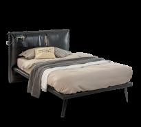 Cilek Dark Metal Einzelbett in Schwarz 100x200