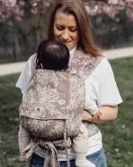 LIMAS Babytrage Halfbuckle   50 -86 cm   Bauchtrage & Rückentrage & Hüfttrage   ab Geburt bis Kleinkindalter   Baby Carrier   Blossom Taupe