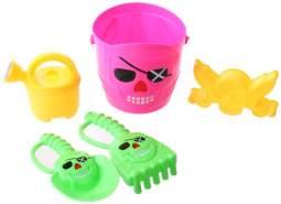 Happy People Strandspielzeug-Set Pirat 15 cm 5-teilig rosa
