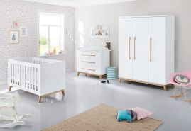 Pinolino 'Riva' 3-tlg. Babyzimmer-Set weiß breit, groß