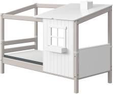 FLEXA Classic Classis Haus 1/2 mit Bettliege Grau / Weiß