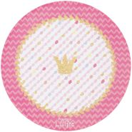 Böing Carpet 'Prinzessin Lillifee - Glitzerkrone' Kinderteppich rosa Ø100cm