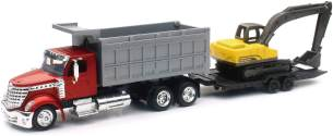 New Ray LKW 1/43 International Lonestar Benne + Bulldozer Collection im Maßstab, 810173, rot