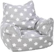 Knorrtoys 'Stars white' Kindersitzsack grau/weiß