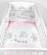 Babylux 'Bär Cookie Rosa' Kinderbettwäsche 40x60/100x135 cm