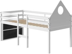 FLEXA Halbhochbett Alfred 90x200cm mit Giebel Tafel und gerader Leiter 90-10899-40