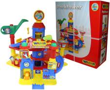 Wader Quality Toys Park Tower mit 4 Ebenen + Autos