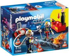 PLAYMOBIL - Feuerwehrmänner mit Löschpumpe 5365
