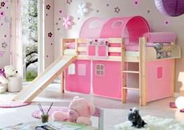 Ticaa Rutschbett Manuel Kiefer Natur - Rosa-Pink